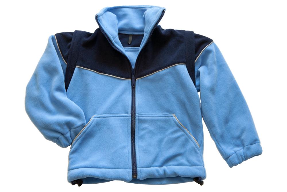 Fleece jacke dunkelblau